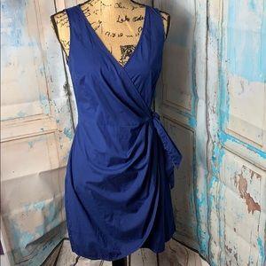 Beautiful Blue Loft Wrap Dress